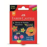 Massa de Modelar Neon 6 Cores 90g Faber Castell