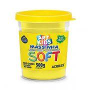 Massa de Modelar Soft 500g Amarelo Limão Acrilex