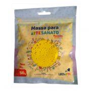 Massa para Artesanato Flocada Metálica Dourada 50g Leonora