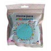 Massa para Artesanato Lisa Azul Pastel 50g Leonora