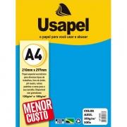 Papel Color A4 180g Azul 50 folhas Usapel