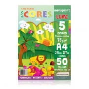 Papel Eco Cores Lumi A4 75g 50 Folhas Nova Print