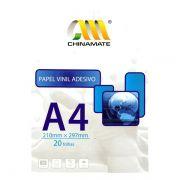 Papel Fotográfico A4 Vinil Adesivo Transparente Laser - 20 folhas