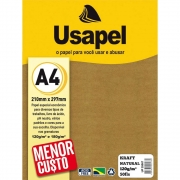 Papel Kraft A4 120g Natural 50 folhas Usapel