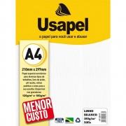 Papel Linho A4 180g Branco 50 folhas Usapel