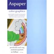 Papel Perolizado Azul A4 120g 20 folhas Aspaper
