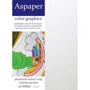 Papel Perolizado Branco A4 120g 20 folhas Aspaper