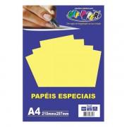 Papel Plus A4 120g Amarelo 20 folhas Off Paper
