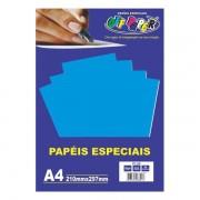 Papel Plus A4 120g Azul 20 folhas Off Paper