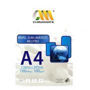 Papel Sublimático A4 Neutro 100g - 100 folhas
