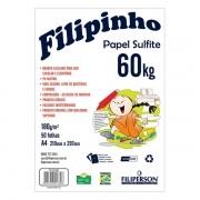 Papel Sulfite A4 180g 50 Folhas Branco Filipinho