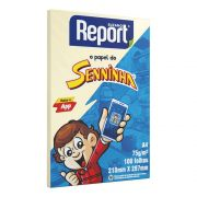 Papel Sulfite A4 75g 100 Folhas Senninha Amarelo Report