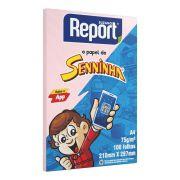 Papel Sulfite A4 75g 100 Folhas Senninha Rosa Report