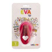 Perfurador de EVA 16mm Coração Rosa Leoarte