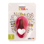 Perfurador de EVA 25mm Coração Rosa Leoarte