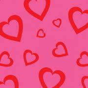 Placa de EVA Estampado Coração Rosa 2mm 40cm x 60cm Leo e Leo