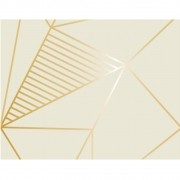 Plástico Adesivo 45cm x 10m Geométrico Bege Gold Leotack