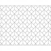 Plástico Adesivo 45cm x 10m Geométrico P&B Leotack