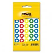 Reforço Adesivo Redondo 14.5mm Colorido Pimaco