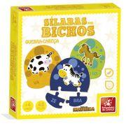 Sílabas dos Bichos Brinquedo Educativo Brincadeira de Criança