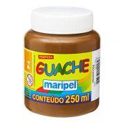 Tinta Guache 250ml Marrom Maripel