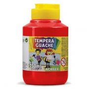 Tinta Guache 250ml Vermelho Fogo Acrilex