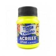 Tinta para Tecido Amarelo Limão 37ml Acrilex