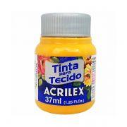 Tinta para Tecido Amarelo Ouro 37ml Acrilex