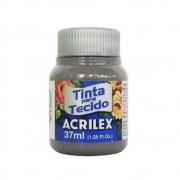 Tinta para Tecido Cinza Chumbo 37ml Acrilex