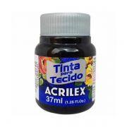Tinta para Tecido Preto 37ml Acrilex