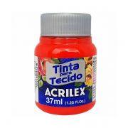 Tinta para Tecido Vermelho Fogo 37ml Acrilex
