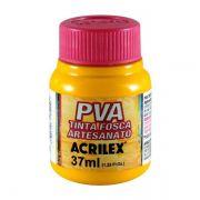 Tinta PVA para Artesanato Amarelo Ouro 37ml Acrilex