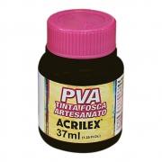 Tinta PVA para Artesanato Preta 37ml Acrilex