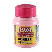 Tinta PVA para Artesanato Rosa 37ml Acrilex