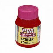 Tinta PVA para Artesanato Vermelho Escarlate 37ml Acrilex