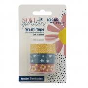 Washi Tape Soul Garden 3m x 15mm 3 Unidades Jocar Office