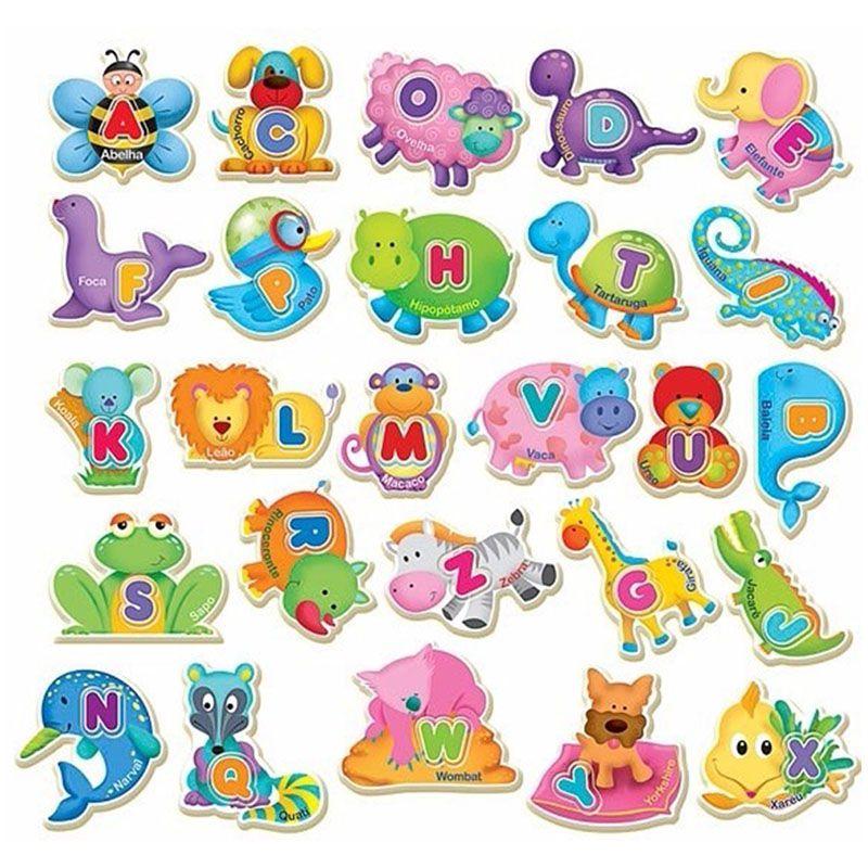 ABC dos Bichos Brinquedo Educativo Brincadeira de Criança