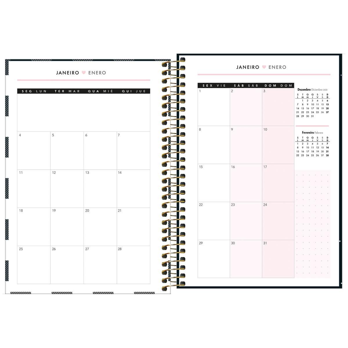 Agenda Planner Espiral West Village 2021 1 Tilibra