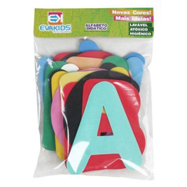 Alfabeto Didático de EVA com 26 Peças 13cm EVA Kids