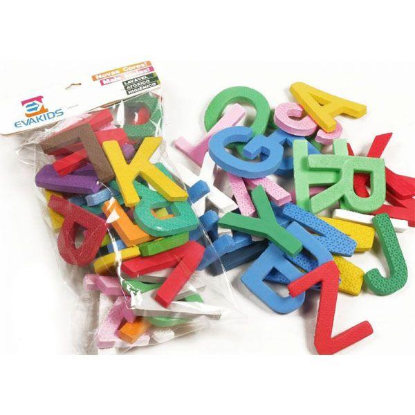 Alfabeto Didático de EVA com 26 Peças 8cm EVA Kids  - INK House