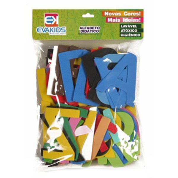 Alfabeto Didático de EVA com 78 Peças 8cm EVA Kids
