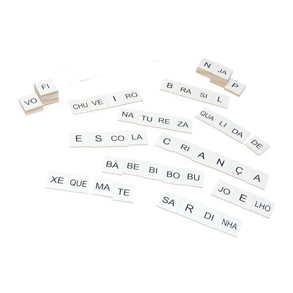 Alfabeto Silábico em Madeira 150 Peças Brinquedo Educativo Carlu  - INK House