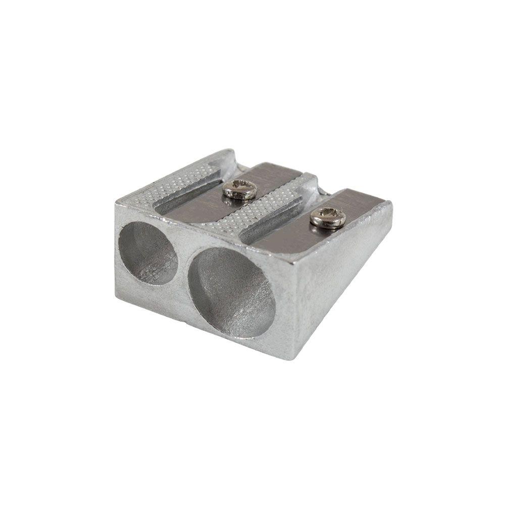 Apontador de Metal Duplo Clássico Caixa com 12 Unidades Leo e Leo