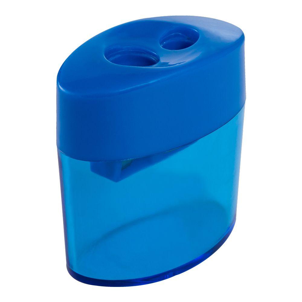 Apontador Duplo Oval com Depósito Azul Leo e Leo