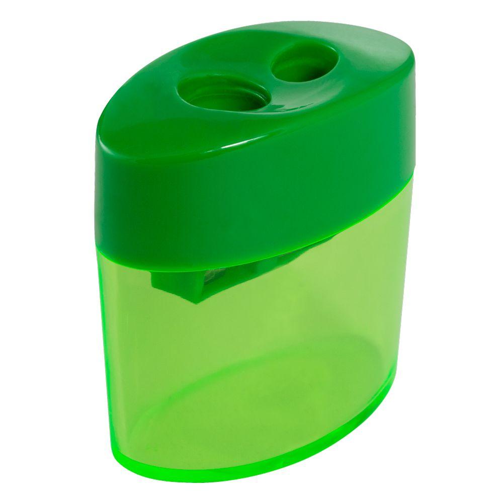Apontador Duplo Oval com Depósito Verde Leo e Leo