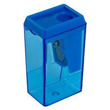 Apontador Bloco 4cm com Depósito Azul Leo e Leo