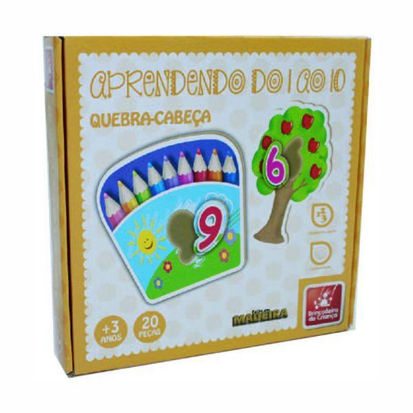 Aprendendo do 1 ao 10 Brinquedo Educativo Brincadeira de Criança  - INK House