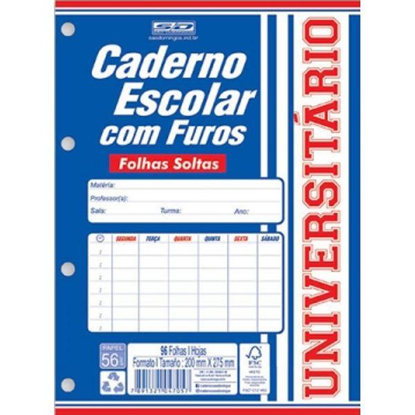 Bloco Universitário Branco 96 Folhas São Domingos