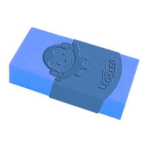 Borracha Plástica Color Azul com Capa Leo e Leo