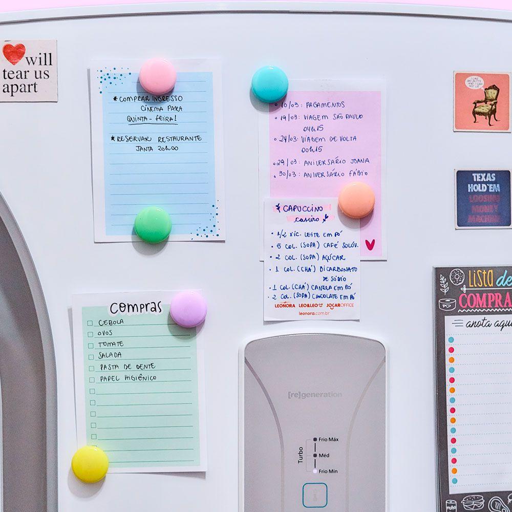 Botões Magnéticos 30mm 6 Unidades Pastel Trend Jocar Office
